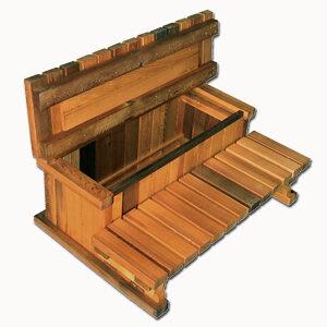 2-Tier Hot Tub Storage Cedar Step