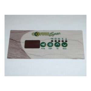 Overlay for TSC-18 Topside Control Pad – Gecko (1 PUMP)