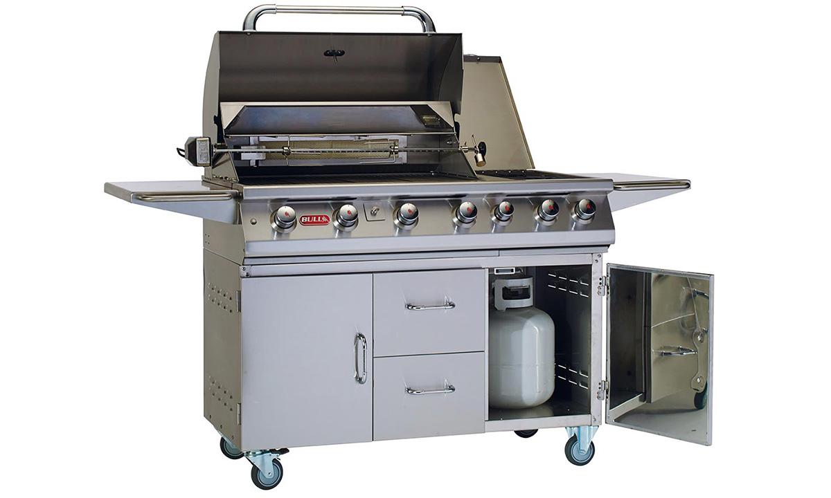 7 burner premium grill cart wlights rotisserie lp arctic outdoors video player aloadofball Gallery
