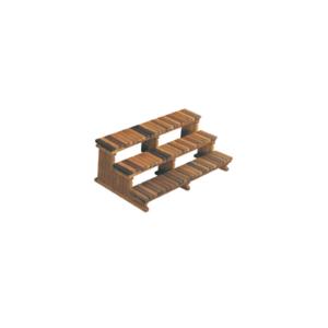 Step 72″ 3-Tier Cedar