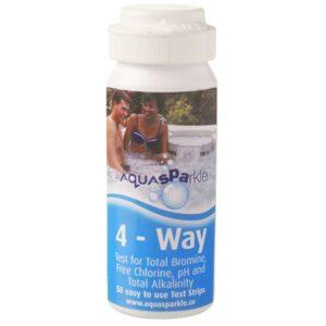 Aquasparkle 4 way Test Strips – Chlorine/Bromine